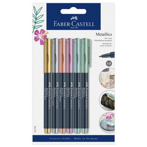 Купить Faber-Castell Набор маркеров Metallics (160706), 6 шт., Фломастеры и маркеры