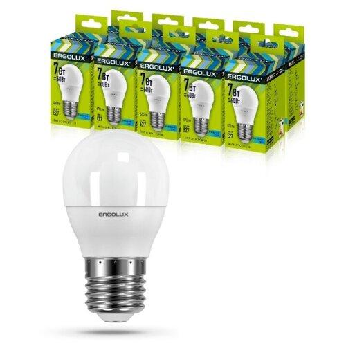 Фото - Светодиодная Лампа Ergolux LED-G45-7W-E27-4K упаковка 10 шт светодиодная лампа ergolux led g45 11w e27 6k упаковка 10 шт