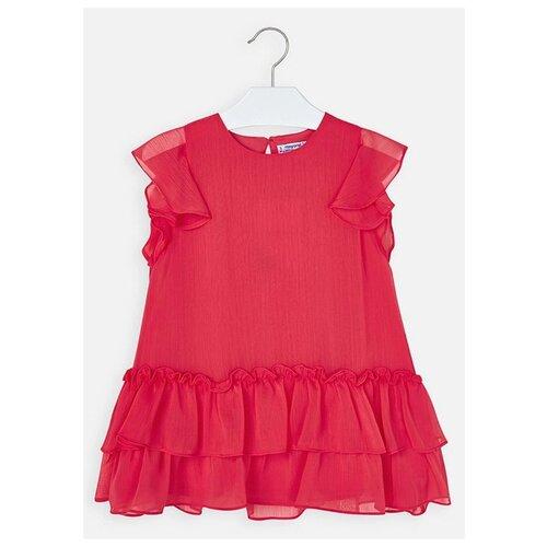 Платье Mayoral размер 122, 043 красный платье oodji ultra цвет красный белый 14001071 13 46148 4512s размер xs 42 170