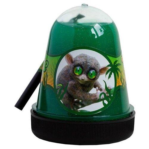 Лизун SLIME Jungle Голаго с глиттером (S300-23) зелeный