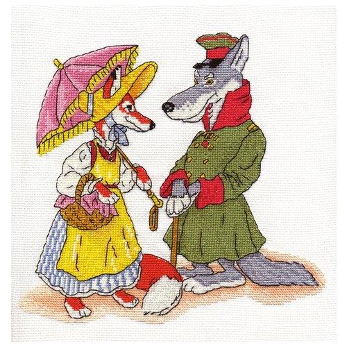 Купить Klart Набор для вышивания Волк и лиса 21 x 21 см (8-109), Наборы для вышивания