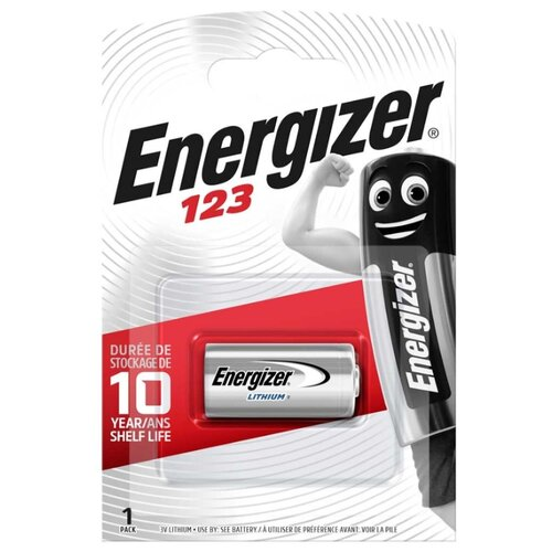 Фото - Батарейка Energizer CR123, 1 шт. батарейка energizer cr123 1 шт 4 уп