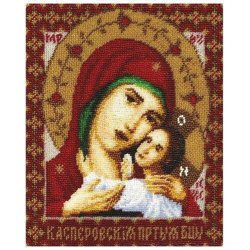 Купить PANNA Набор для вышивания бисером Икона Пресвятой Богородицы Касперовская 19.5 х 24 см (CM-0946), Наборы для вышивания