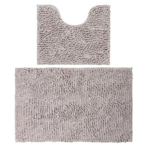 Фото - Комплект ковриков EL CASA 990356, 80х50 см и 50х45 см латте комплект el casa el casa mp002xu0e0zv