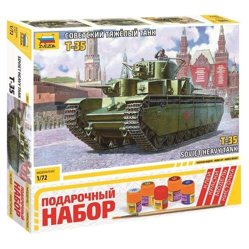 Купить Сборная модель ZVEZDA Советский тяжелый танк Т-35 (5061ПН) 1:72, Сборные модели