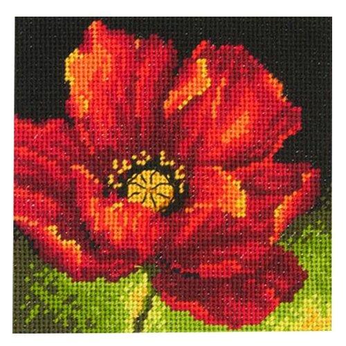 Dimensions Набор для вышивания Гобелен Red Poppy (Красный мак) 12.7 х 12.7 см (71-07246) dimensions набор для вышивания морские сокровища 20 х 10 см 65035