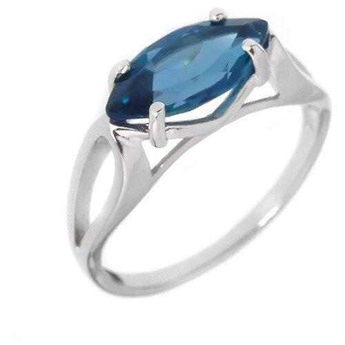 Фото - Balex Кольцо 1405936346 из серебра 925 пробы с топазом Лондон, размер 17 element47 кольцо из серебра 925 пробы с топазами лондон r32560h 7 ko lt wg размер 17 25