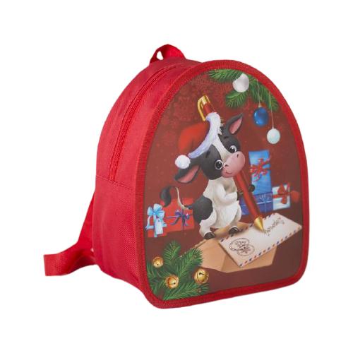 Yiwu Youda Import and Export Рюкзак Новогодний бычок 5065962, красный по цене 356