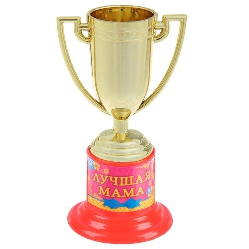 Кубок Yiwu Zhousima Crafts Лучшая мама 843234, 10 см золотистый/розовый кубок ника лучший руководитель высота 20 см