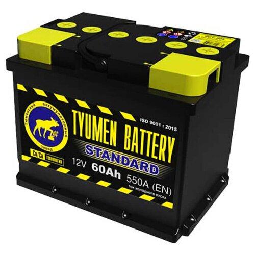 TYUMEN BATTERY Аккумуляторная батарея автомобильная 60 A/h прямая полярность