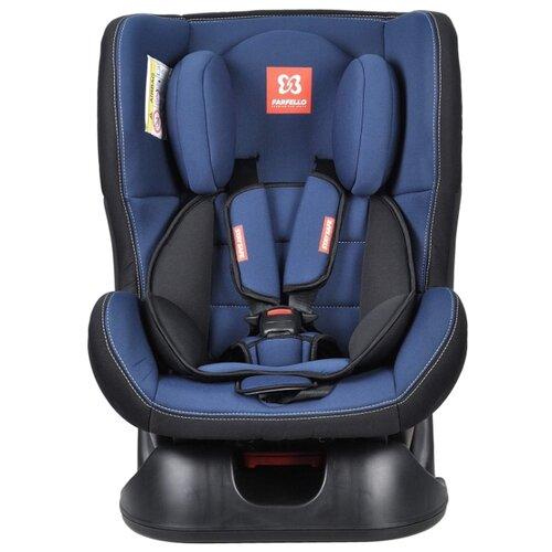 Автокресло группа 0/1 (до 18 кг) Farfello GE-B, черно-голубой автокресло группа 1 2 3 9 36 кг little car ally с перфорацией черный