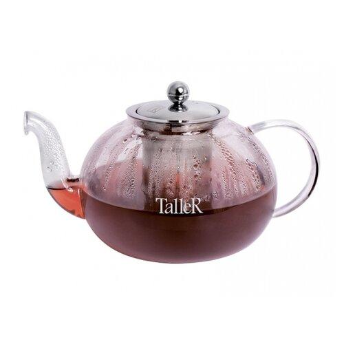 Чайник заварочный TalleR TR-31370, 800 мл, термостойкое боросиликатное стекло 1360 tr чайник заварочный taller 600 мл