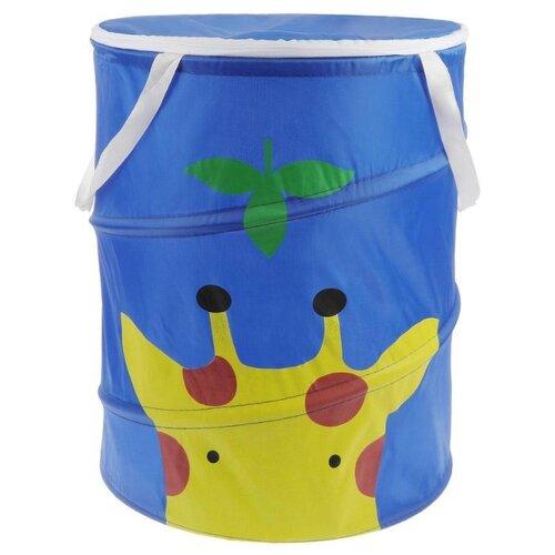 Фото - Корзина Наша игрушка Жираф 35 х 42 см ( HXH2019040903-13b) синий товары для праздника наша игрушка вертушка цветочек с липестками 35 см