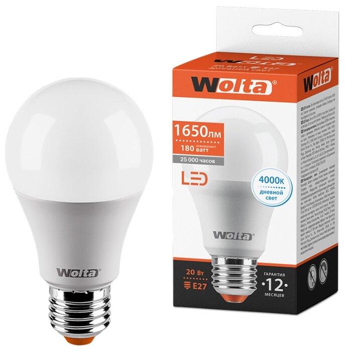 Лампа светодиодная Wolta 25S, E27, A65, 20Вт - Характеристики - Яндекс.Маркет