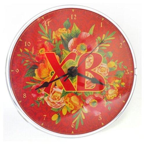 Часы акриловые на магните, д.10см/Пасха/Цветы