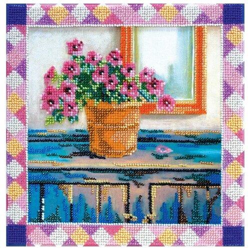 Купить ABRIS ART Набор для вышивания бисером Азалия 22 x 22 см (АВ-383), Наборы для вышивания