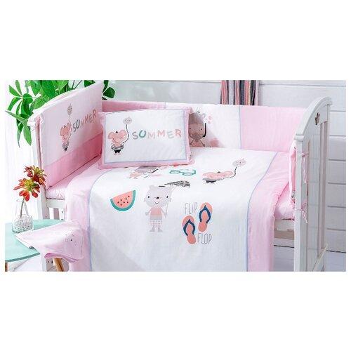 Arya комплект в кроватку Summer (7 предметов) розовый