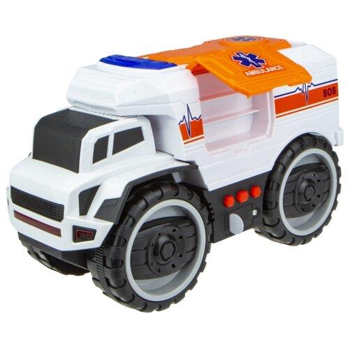 Грузовик 1 TOY Экстренные службы (Т16946) 20 см белый, Машинки и техника  - купить со скидкой