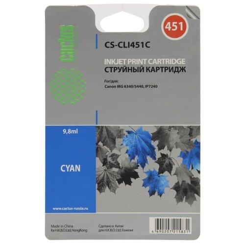 Фото - Картридж cactus CS-CLI451C 9.8 мл., совместимый картридж cactus cs cli471xlm 10 8 мл совместимый