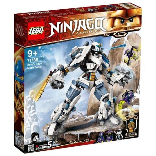 Купить Конструктор LEGO Ninjago 71738 Битва с роботом Зейна, Конструкторы