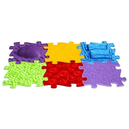 Купить Коврик-пазл массажный ИграПол Набор Цветочная полянка (IGP-N-003), Игровые коврики