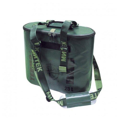 Фото - Сумка-Термос Митек овал 20л (50х20х31) с крышкой хаки сумка рыболовная митек с крышкой овал 40х20х40 серый