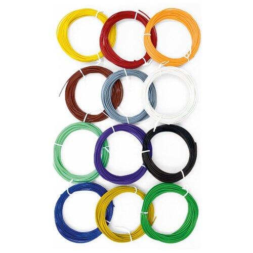 Пластик PLA STEMDOC для 3д-ручек, 12 цветов по 5 метров