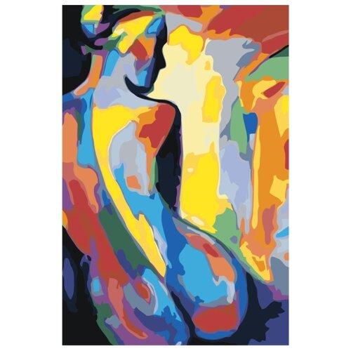 Силуэт радужной обнаженной женщины Раскраска картина по номерам на холсте RO273 40х60