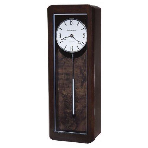 Часы настенные кварцевые Howard Miller Aaron черный кофе