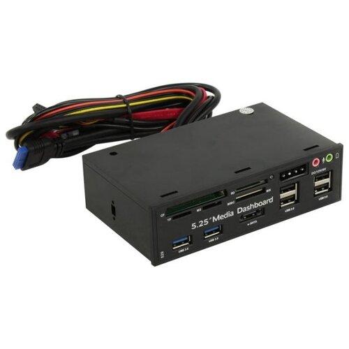 Фото - Кардридер ESPADA EhubUSB3&4p2 черный адаптер espada подключение дополнительной sim esp sim 43073