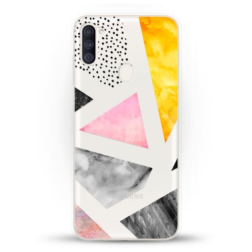 Силиконовый чехол Мраморные треугольники на Samsung Galaxy A11