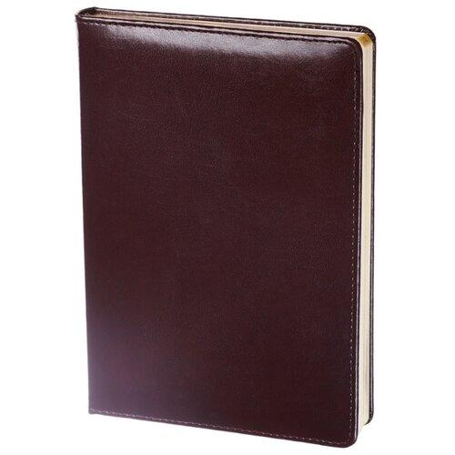 Купить Ежедневник InFolio Britannia недатированный, натуральная кожа, А5, 160 листов, бордовый, Ежедневники, записные книжки
