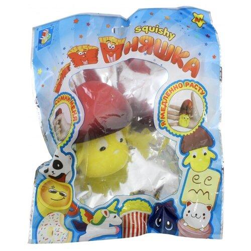 Игрушка-мялка 1 TOY Мммняшка. Гриб Т12320 желтый/красный