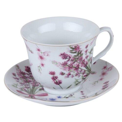 ROSENBERG Чайная пара RPO-255114 270 мл белый/фиолетовый недорого