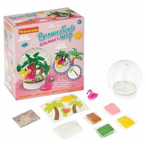 Купить Набор для творчества BONDIBON, Волшебный шар. Фламинго (водный), Пластилин и масса для лепки