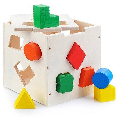 Сортер Щепочка Куб (D0844) сортер red box активный куб