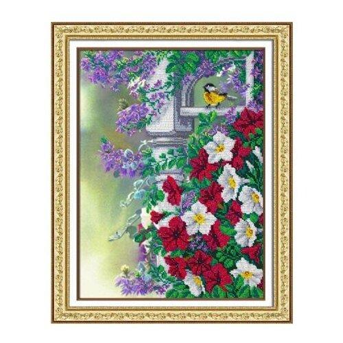 Купить Б1243 Набор для вышивания бисером 'Паутинка' 'Весеннее настроение', 28*38 см, Наборы для вышивания