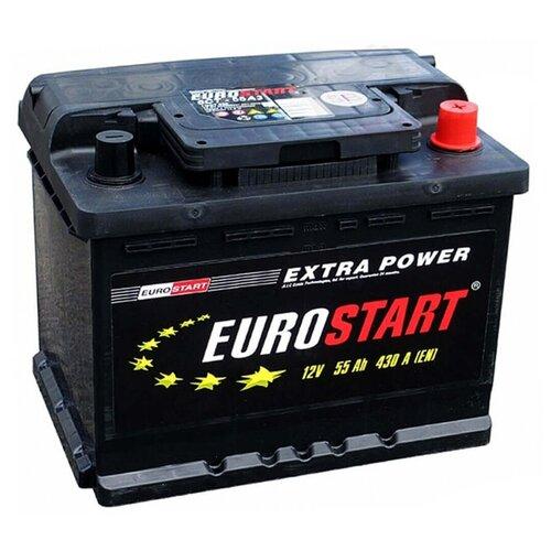EUROSTART Аккумуляторная батарея автомобильная Extra Power 55 A/h прямая полярность