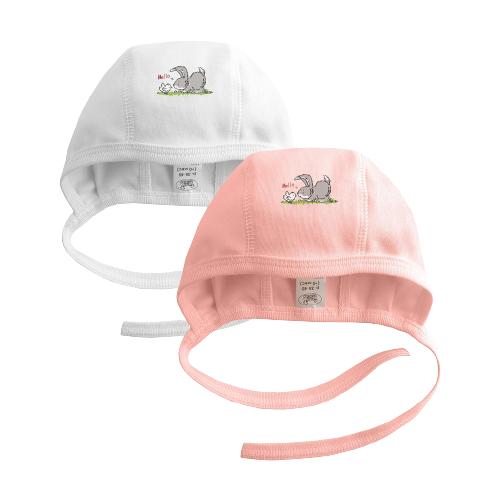 Купить Чепчик Наша мама размер 42-44(74), белый/розовый, Головные уборы