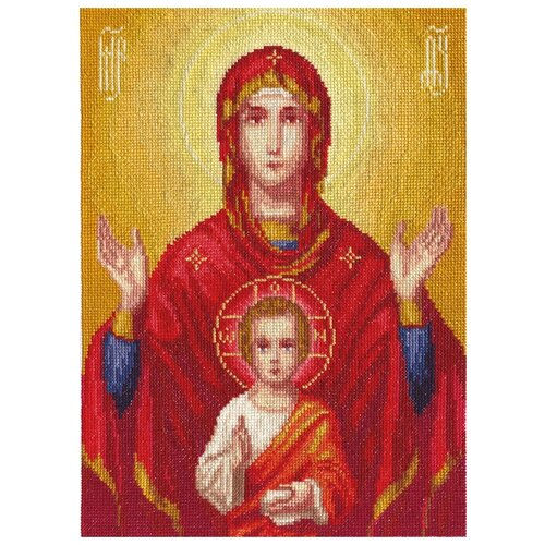 PANNA Набор для вышивания Икона Божией Матери Знамение 22.5 х 30.5 см (CM-1333), Наборы для вышивания  - купить со скидкой