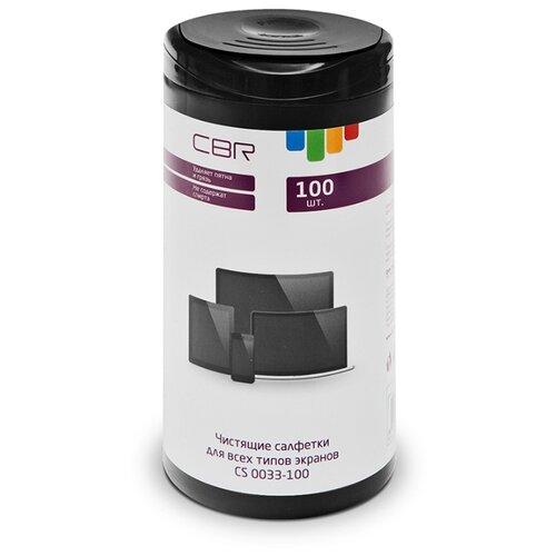 Фото - CBR CS 0033-100 влажные салфетки 100 шт. для экрана cactus cs t1001e влажные салфетки 100 шт