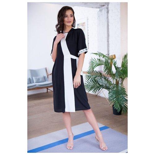 Халат Mia-Mia размер XS/S (42-44) черный/белый платье oodji ultra цвет красный белый 14001071 13 46148 4512s размер xs 42 170