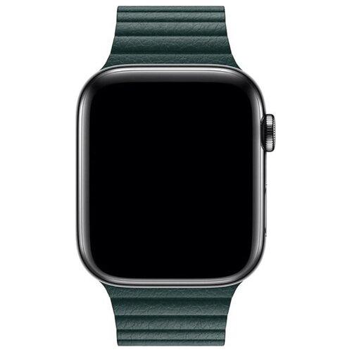 Ремешок для часов Eva для Apple Watch 42/44 mm Тёмно-Зеленый (AWA008GR) ремешок для часов eva для apple watch 42mm белый awa001w