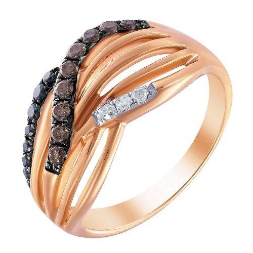 Фото - JV Кольцо из розового золота 585 пробы с бриллиантами R27278-DL-DN-PINK, размер 17.5 dl 0617 pink