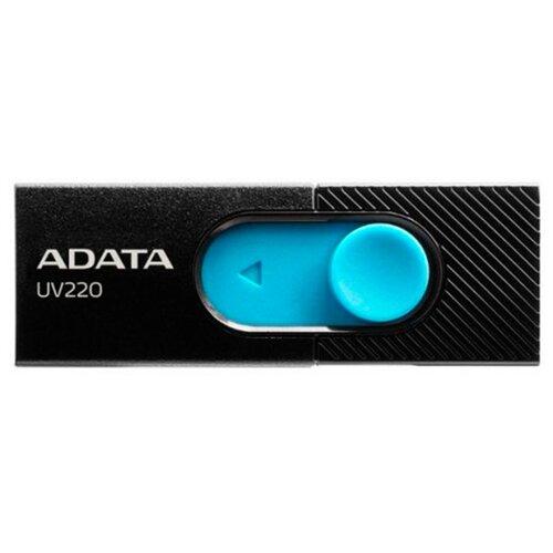 Фото - Флешка ADATA UV220 16GB черный/голубой флешка adata ud330 16gb красный