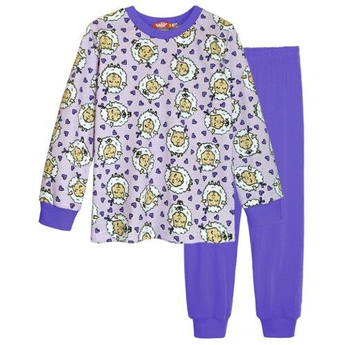 Пижама Let's Go размер 116, фиолетовый