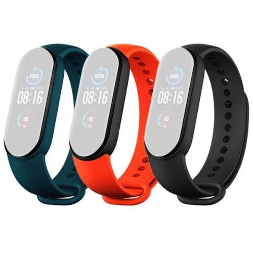 Ремешок д/Mi Smart Band 5 Strap (3-Pack) Black/Orange/Teal (BHR4639GL) по цене 940