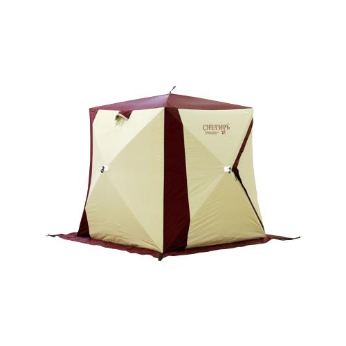 Палатка СНЕГИРЬ Зимняя Палатка 2Т белый/красный