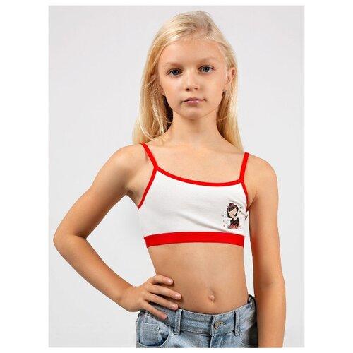 Бюстье MOR MOR-2-022017-T-10 размер 164-170, белый/красный платье oodji ultra цвет красный белый 14001071 13 46148 4512s размер xs 42 170