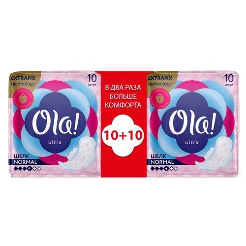 Купить Ola! прокладки Ultra Normal Шелковистая поверхность, 4 капли, 10 шт., 2 уп.
